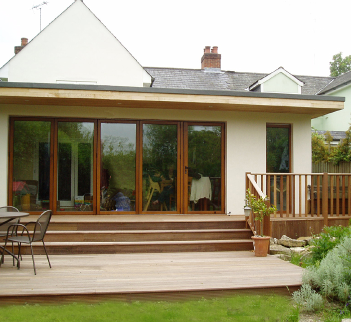 Contemporary rear extension rowledge Contemporary flat roof designs