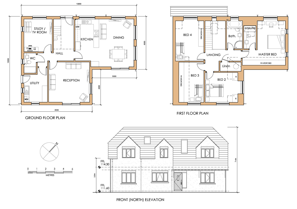 Pin Bungalow Chalet Floor Plan On Pinterest