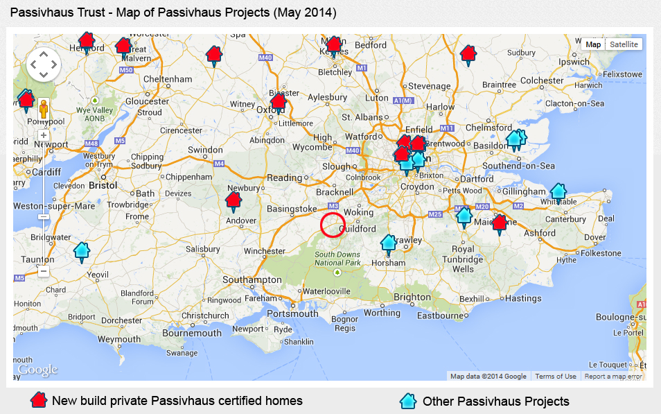 Passivhaus Map May 2104