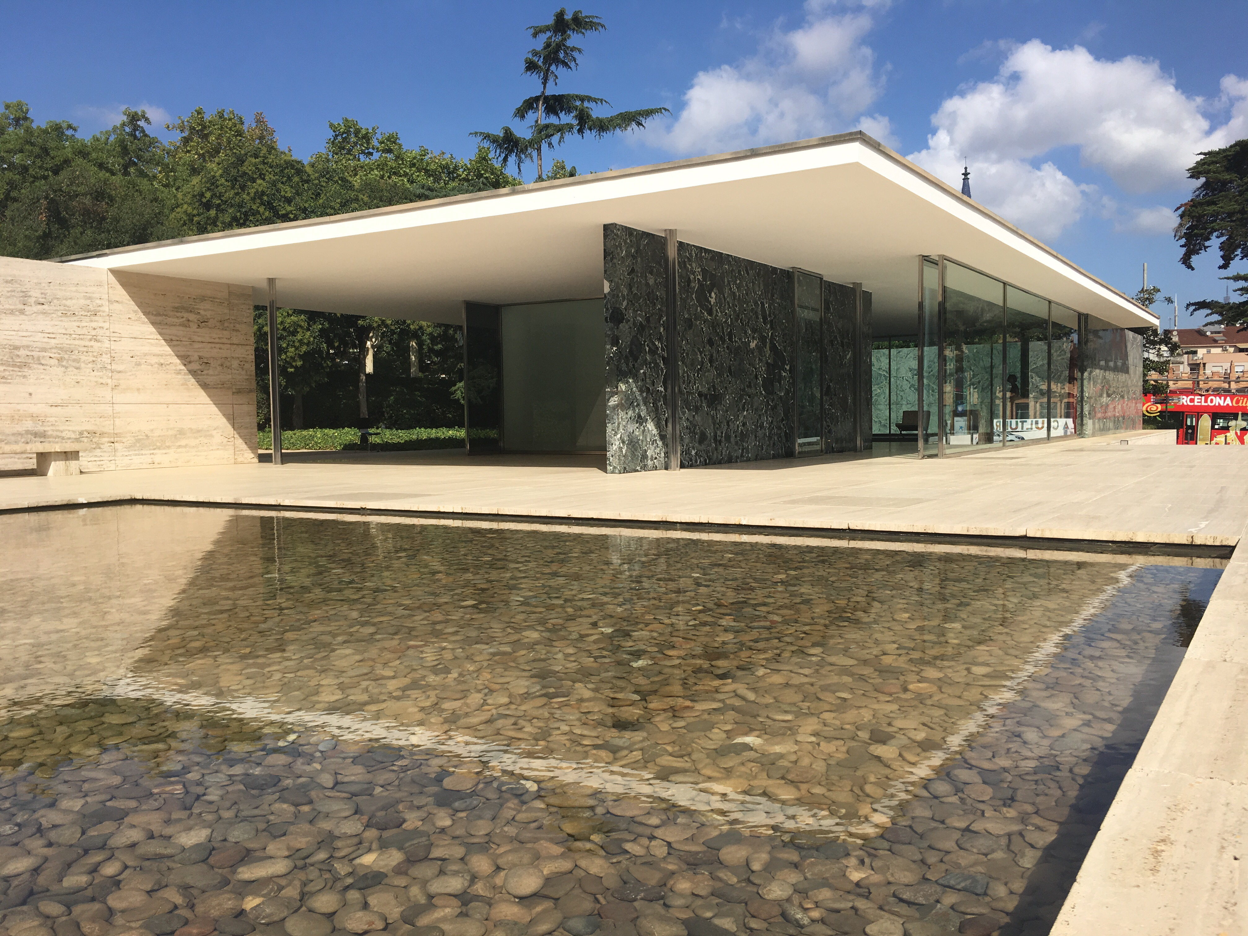 mies van der rohe 39 s barcelona pavilion architectural highlight of our summer trip to spain. Black Bedroom Furniture Sets. Home Design Ideas