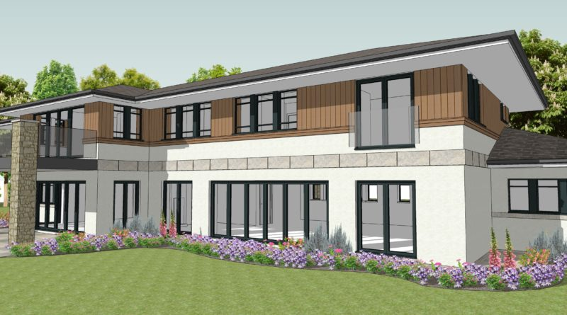 New house granted planning permission in Farnham, Surrey